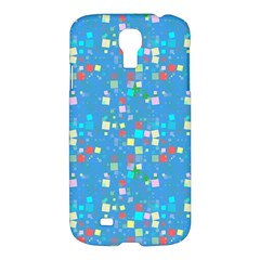 Colorful Squares Pattern Samsung Galaxy S4 I9500/i9505 Hardshell Case by LalyLauraFLM