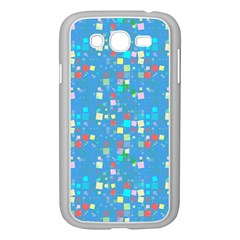 Colorful Squares Pattern Samsung Galaxy Grand Duos I9082 Case (white) by LalyLauraFLM