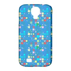 Colorful Squares Pattern Samsung Galaxy S4 Classic Hardshell Case (pc+silicone)