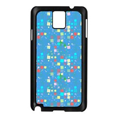 Colorful Squares Pattern Samsung Galaxy Note 3 N9005 Case (black) by LalyLauraFLM