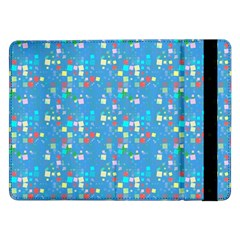 Colorful Squares Pattern Samsung Galaxy Tab Pro 12 2  Flip Case