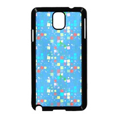 Colorful Squares Pattern Samsung Galaxy Note 3 Neo Hardshell Case (black)
