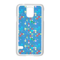 Colorful Squares Pattern Samsung Galaxy S5 Case (white)