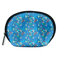 Colorful Squares Pattern Accessory Pouch (medium)