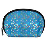 Colorful squares pattern Accessory Pouch (Large) Front