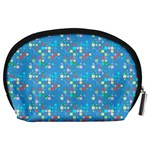 Colorful squares pattern Accessory Pouch (Large) Back