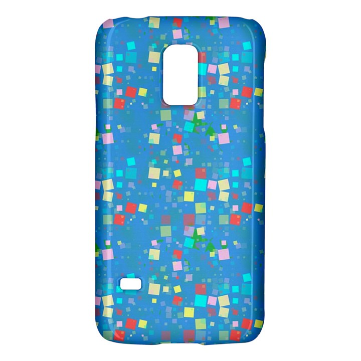 Colorful squares pattern Samsung Galaxy S5 Mini Hardshell Case