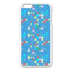 Colorful Squares Pattern Apple Iphone 6 Plus Enamel White Case