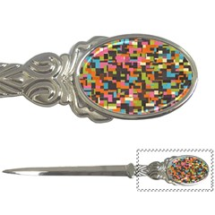 Colorful Pixels Letter Opener