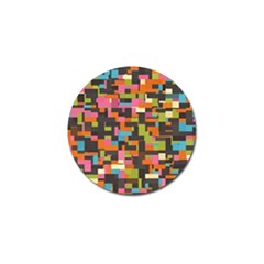 Colorful Pixels Golf Ball Marker
