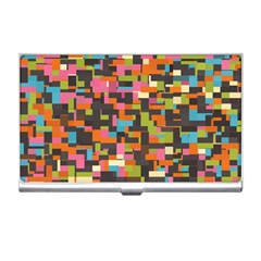Colorful Pixels Business Card Holder by LalyLauraFLM