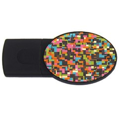 Colorful Pixels Usb Flash Drive Oval (2 Gb)
