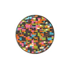 Colorful Pixels Hat Clip Ball Marker by LalyLauraFLM