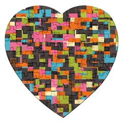 Colorful Pixels Jigsaw Puzzle (heart)