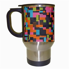 Colorful Pixels Travel Mug (white)