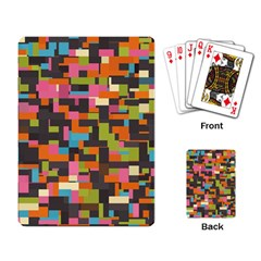 Colorful Pixels Playing Cards Single Design by LalyLauraFLM