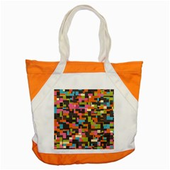 Colorful Pixels Accent Tote Bag by LalyLauraFLM