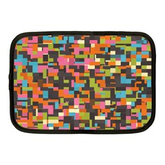Colorful Pixels Netbook Case (medium)
