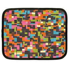 Colorful Pixels Netbook Case (large)
