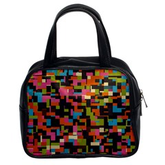 Colorful Pixels Classic Handbag (two Sides)