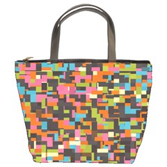 Colorful Pixels Bucket Bag