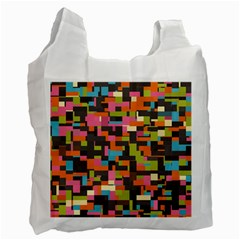 Colorful Pixels Recycle Bag (two Side)