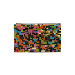 Colorful Pixels Cosmetic Bag (small)