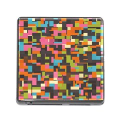 Colorful Pixels Memory Card Reader With Storage (square)