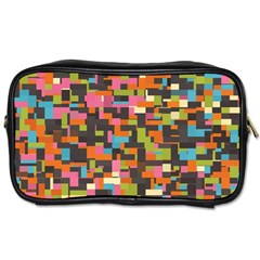 Colorful Pixels Toiletries Bag (two Sides)