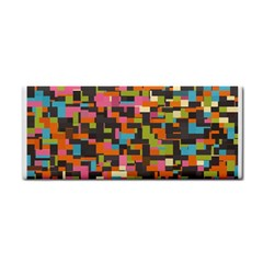 Colorful Pixels Hand Towel by LalyLauraFLM