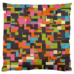 Colorful Pixels Large Cushion Case (two Sides)