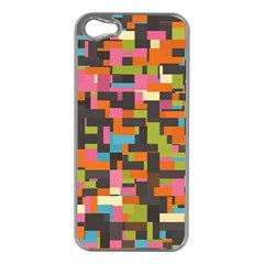 Colorful Pixels Apple Iphone 5 Case (silver)