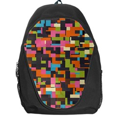 Colorful Pixels Backpack Bag