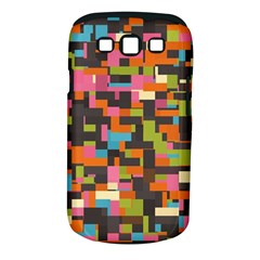 Colorful Pixels Samsung Galaxy S Iii Classic Hardshell Case (pc+silicone)