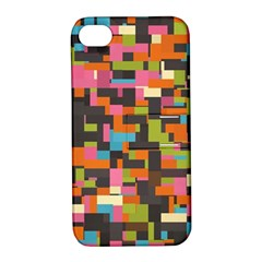 Colorful Pixels Apple Iphone 4/4s Hardshell Case With Stand