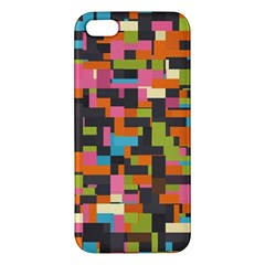Colorful Pixels Apple Iphone 5 Premium Hardshell Case