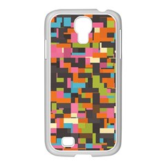 Colorful Pixels Samsung Galaxy S4 I9500/ I9505 Case (white) by LalyLauraFLM