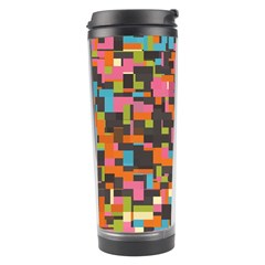 Colorful Pixels Travel Tumbler by LalyLauraFLM
