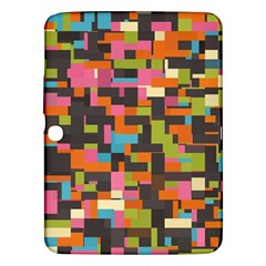 Colorful Pixels Samsung Galaxy Tab 3 (10 1 ) P5200 Hardshell Case