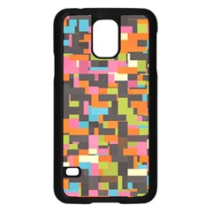 Colorful Pixels Samsung Galaxy S5 Case (black)