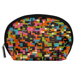 Colorful Pixels Accessory Pouch (large) by LalyLauraFLM
