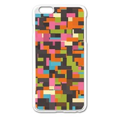 Colorful Pixels Apple Iphone 6 Plus Enamel White Case by LalyLauraFLM