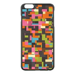 Colorful Pixels Apple Iphone 6 Plus Black Enamel Case by LalyLauraFLM