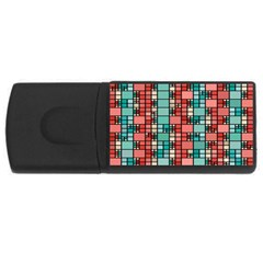 Red And Green Squares Usb Flash Drive Rectangular (4 Gb)