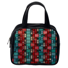 Red And Green Squares Classic Handbag (one Side)