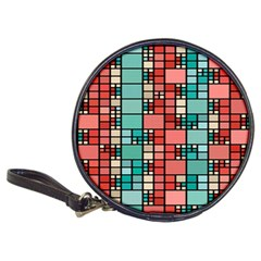 Red And Green Squares Classic 20 Cd Wallet