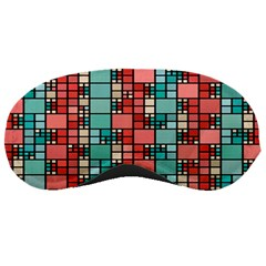 Red And Green Squares Sleeping Mask
