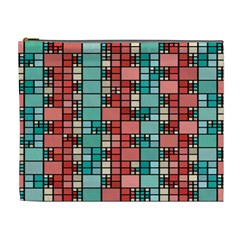 Red And Green Squares Cosmetic Bag (xl)