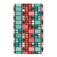 Red And Green Squares Memory Card Reader (rectangular) by LalyLauraFLM