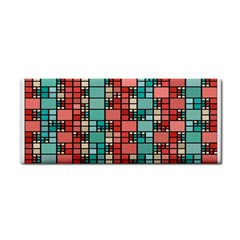Red And Green Squares Hand Towel